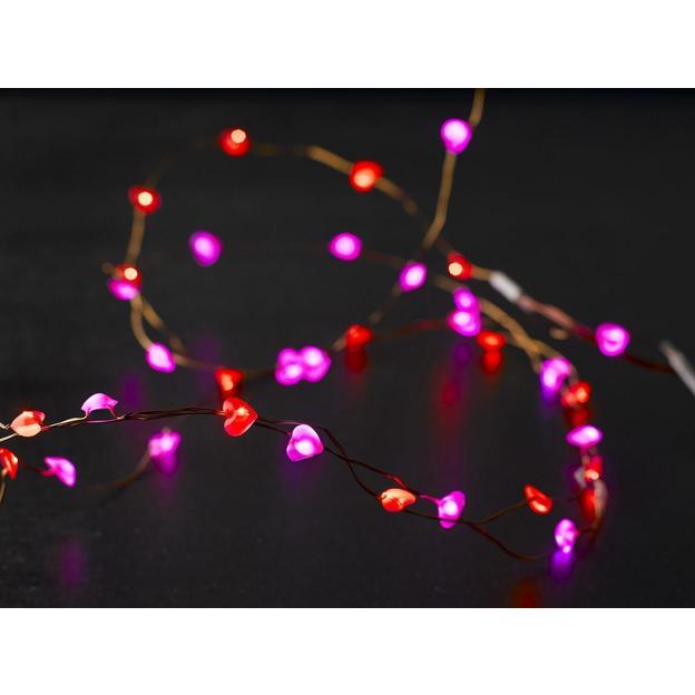 Guirlande lumineuse fil de coeurs