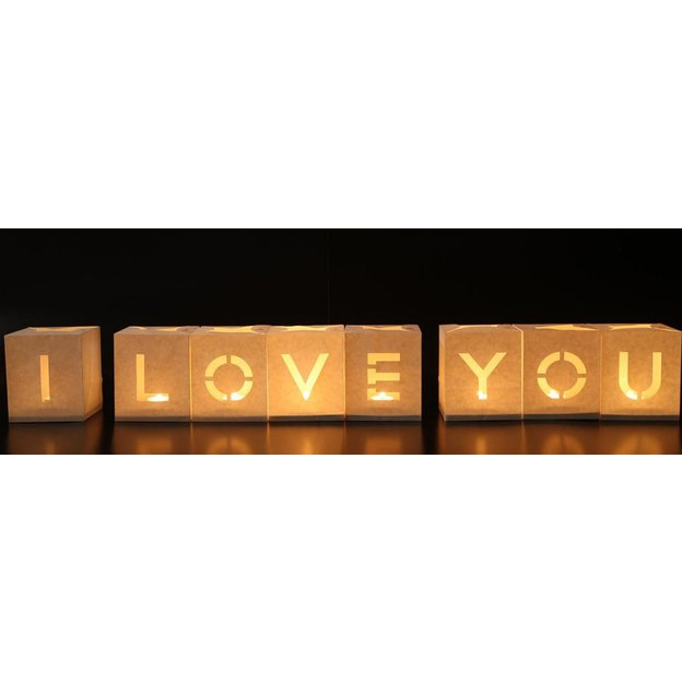 Teelichttüten I Love you