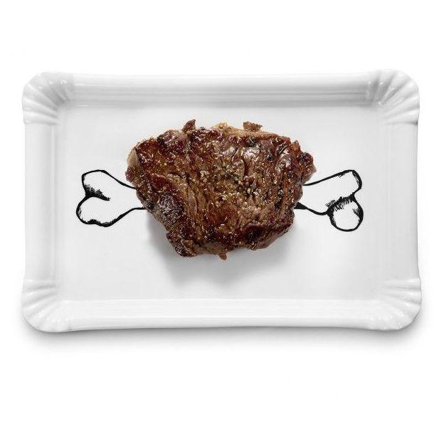 Assiette / plat barbecue Power en céramique