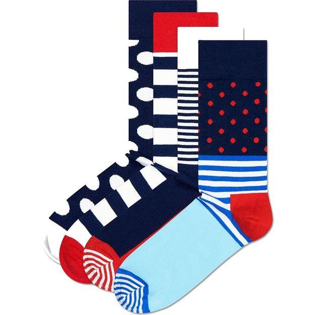 Coffret chaussettes Happy Socks bleu-rouge