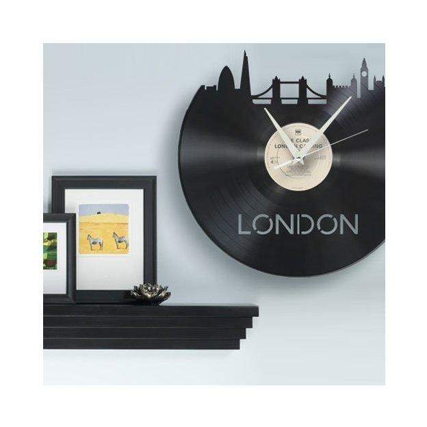 Schallplatten Wanduhr - City