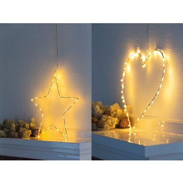 Décoration LED Coeur ou Etoile Liva