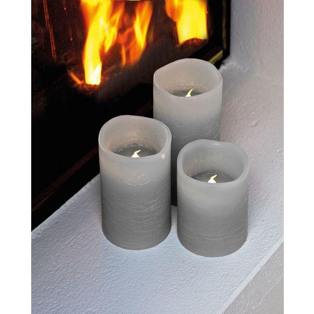 Bougies LED cire Tenna set de 3