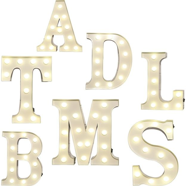 Leuchtbuchstaben Vegas Lights aus Metall