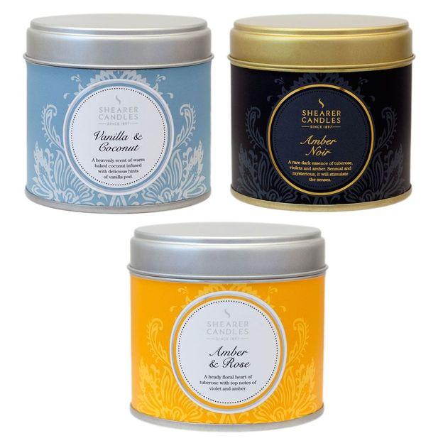 Bougie parfumée Shearer Candles dans une grande boîte