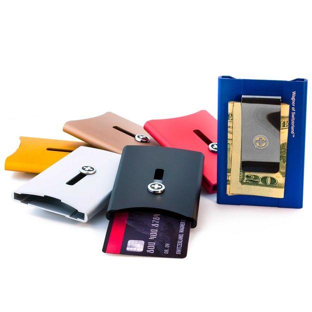 Kartenhalter mit Geldnoten-Clip