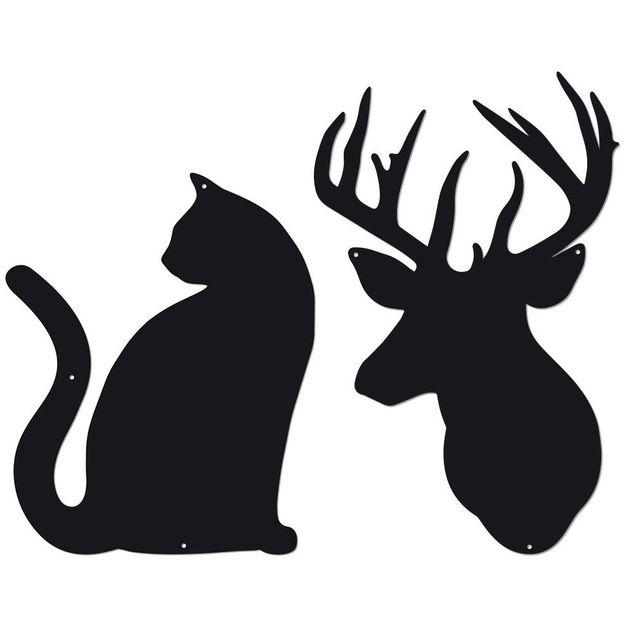 Tableaux magnétiques Chat et Cerf