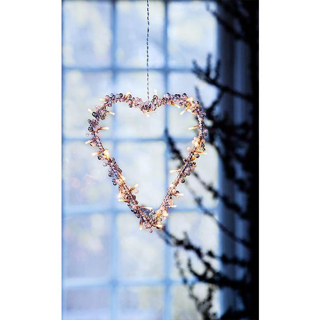 Coeur LED déco de Noël