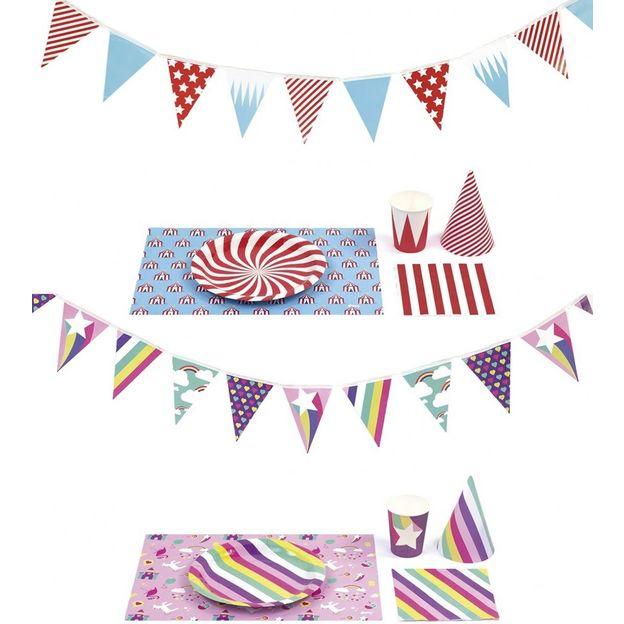 Set de décoration de table fête pour enfant
