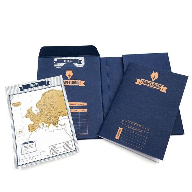 Carnet de voyage Travelogue avec cartes à gratter