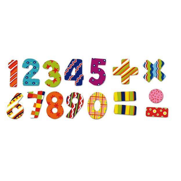 Magnete ABC und Zahlen aus Holz