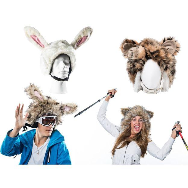 Tierische Skihelmüberzüge für Kinder und Erwachsene