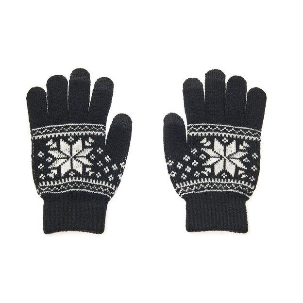 Gants tactiles motif Norvegien