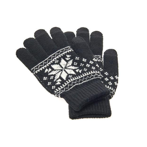 Touchscreen Handschuh mit Schneeflocke
