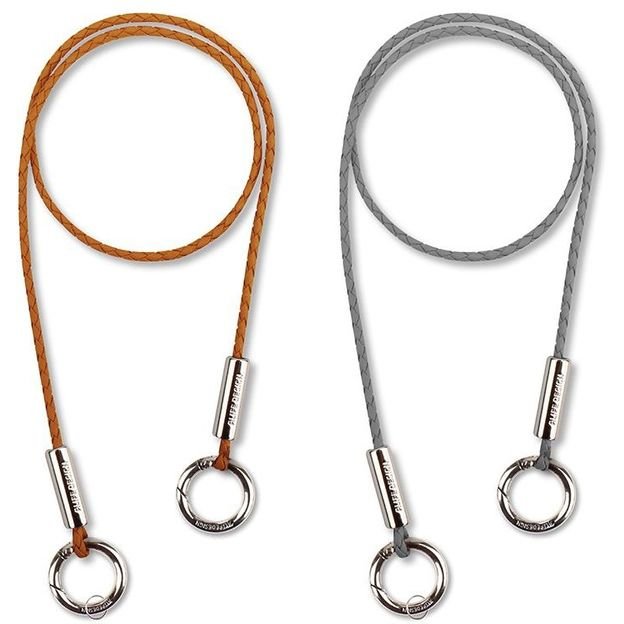 Porte-clés anti-perte et antivol avec 2 mousquetons