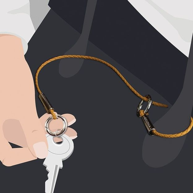 Schlüsselband lang mit zwei Ringen