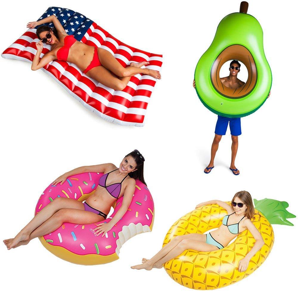 Luftmatratze und Schwimmring Leckereien