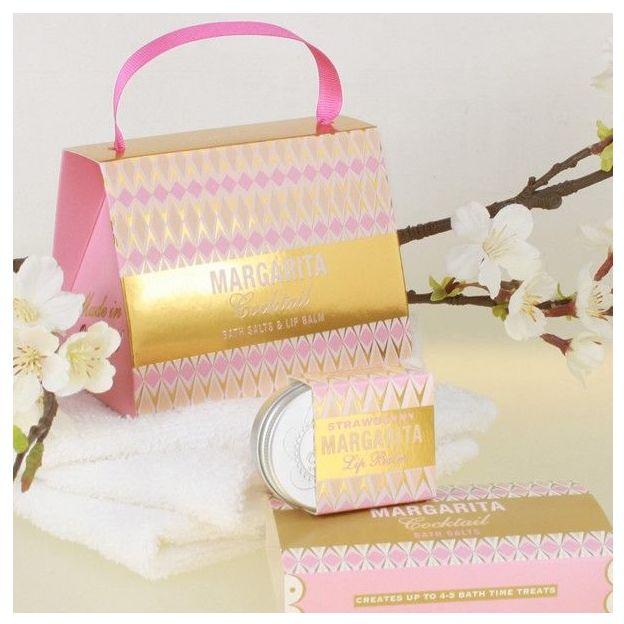 Geschenkset Cocktail Pastels mit Lippenbalsam und Badesalz