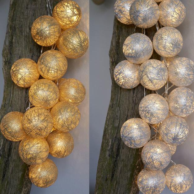 Bolette LED Guirlande lumineuse Metallic