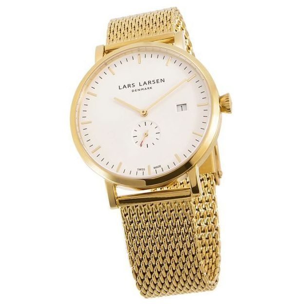 Montre Lars Larsen Unisex Gold Plated Mesh 41mm