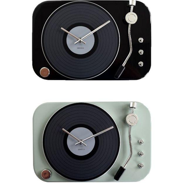 Schallplatten Wanduhr