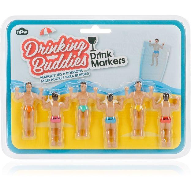 Marque-verre fantasie Buddies 6 pcs