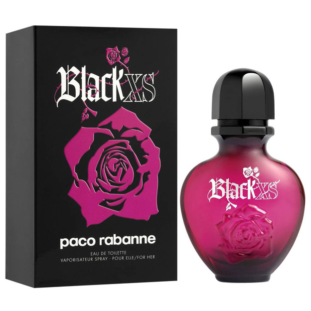 Paco rabanne black xs for her eau de toilette for Paco rabanne black rose