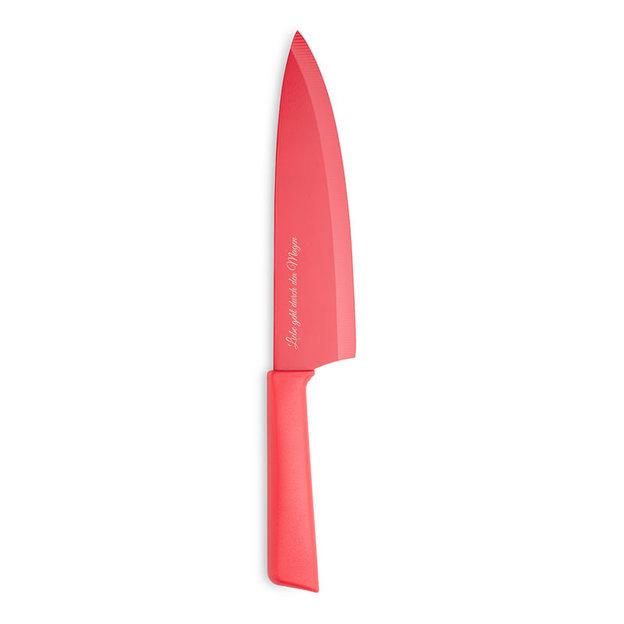 Personalisierbares Kochmesser Colori+ rot