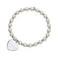 Bracelet Charm perles de nacre coeur personnalisable