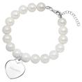Bracelet perles médaillon coeur personnalisable