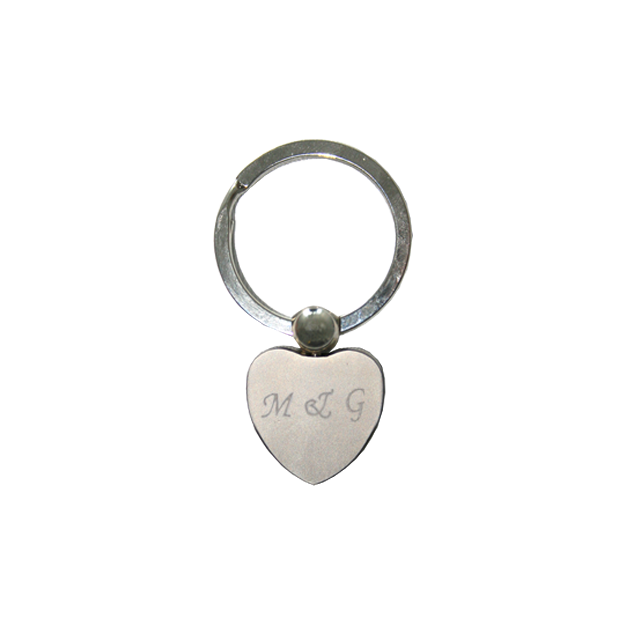 Personalisierbarer Herz Schlüsselanhänger