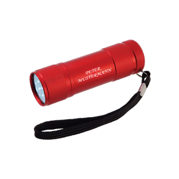 Personalisierbare LED Taschenlampe rot