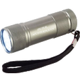 Personalisierbare LED Taschenlampe silber