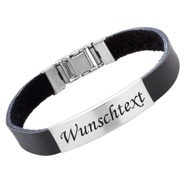 Bracelet caoutchouc personnalisé 1cm noir