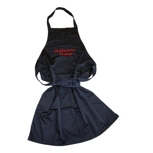 Tablier barbecue personnalisable bleu marine