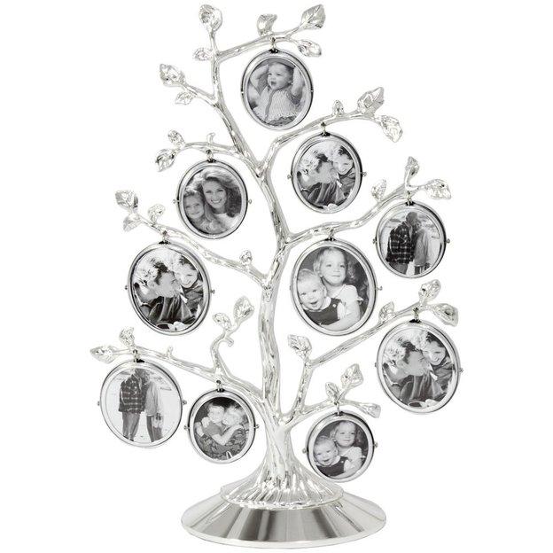 Personalisierbarer Fotobaum für 10 Fotos