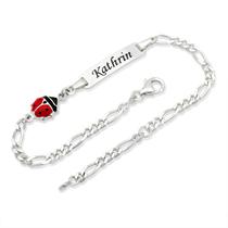 Bracelet Coccinelle argent 925 personnalisable