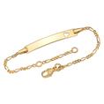 Personalisierbares Armband 375 Gold mit Herzmotiv für Kinder