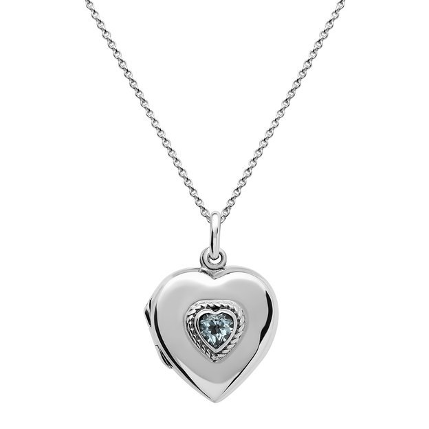 Pendentif médaillon cœur avec topaze