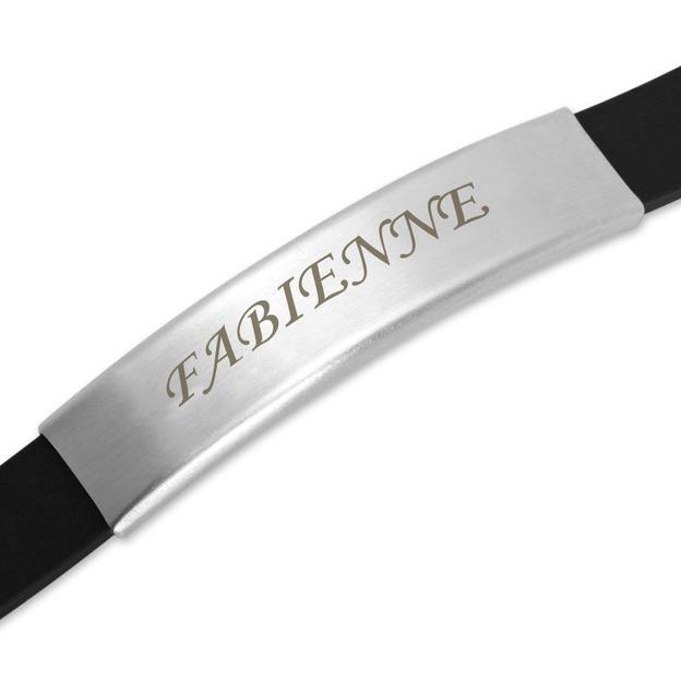 Bracelet caoutchouc personnalisé 8mm