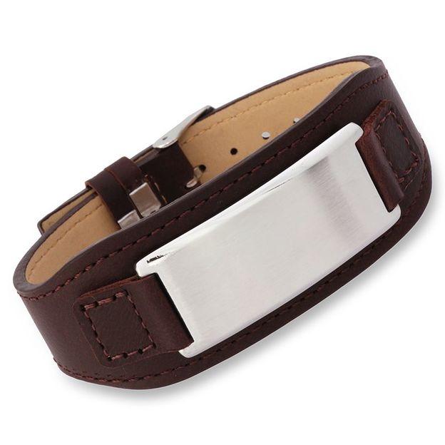 Personalisierbares Armband Leder braun