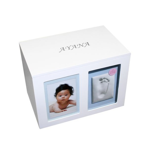Personalisierbare Memorybox Babyprints
