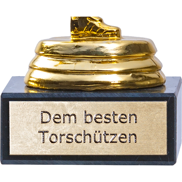 Trophée de foot personnalisable