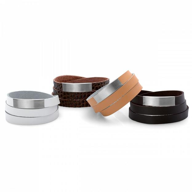 Bracelet cuir personnalisable large