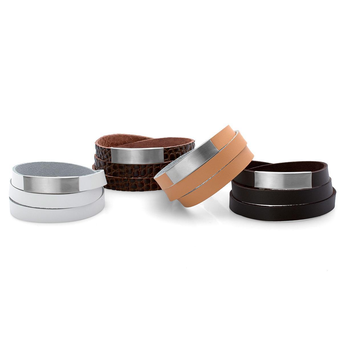 bracelet cuir personnalisable large. Black Bedroom Furniture Sets. Home Design Ideas