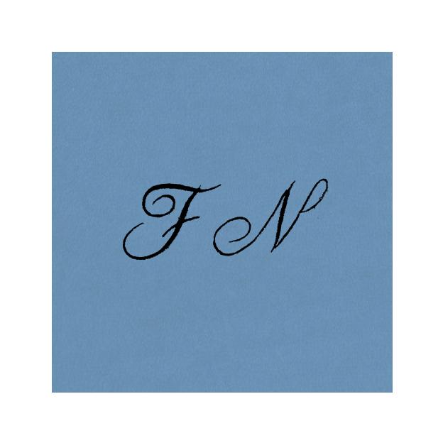 Drap de bain à vos initiales bleu lavande