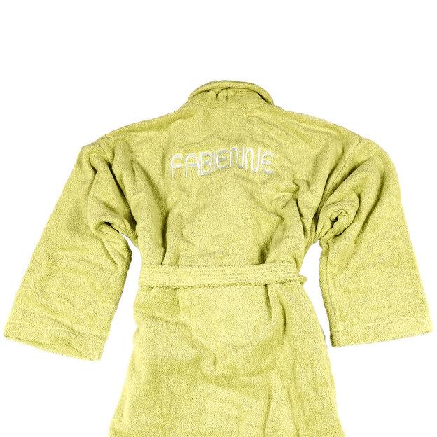 Peignoir personnalisable Vert Tilleul, taille S