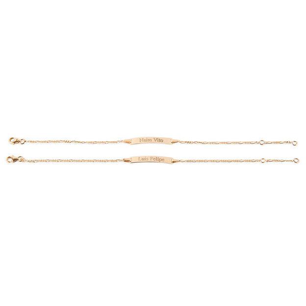 Personalisierbares Armband 375 Gold Taufarmband für Kinder 16cm