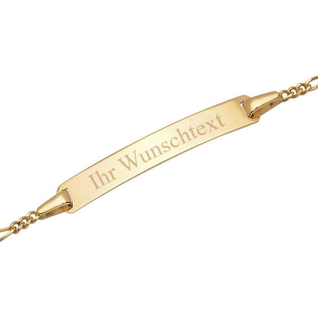 Personalisierbares Armband 375 Gold Taufarmband für Kinder 19cm
