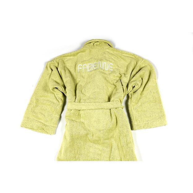 Peignoir personnalisable Vert Tilleul, taille XL